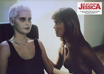 "french ""JESSICA"" cinema ad. 3 from Sotto movie in bed with blonde - ital. intrepido SPORT 22.09.87 #38"