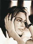 unknown scandinavian mag. - 1995 b/w hands in hair, glasses
