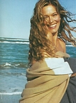 french ELLE 23. Feb. 2004 - on the beach, laughing 1