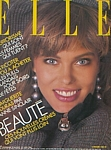 french ELLE 8. Dec. 1986 cover by Bill King