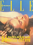 belgium ELLE 8. May 1995 cover by Hans Feurer (Biotherm sun pic)
