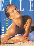 belgium ELLE 6. May 1996 cover by Hans Feurer (Biotherm sun pic)