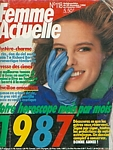 french Femme Actuelle 29. Dec. 1986-4. Jan. 1987 cover by Patrick Demarchelier