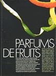 """PARFUMS DE FRUITS"" 1a - french ELLE 25.06.84 by Pierry Berdoy"