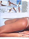 """LA BELLE AMERICAINE"" 4a - french ELLE 25. July 1985 by Gilles Bensimon"