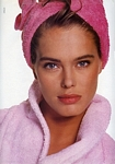 "unknown pink towel - span. ELLE 05-91 serie french ELLE 07.12.87 ""LA BEAUTE BLUFF"" by Hiromasa"
