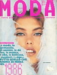 ital. MODA Jan. 1986 cover by Mark Arbeit