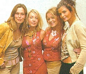 danish Ude og Hjemme - 2002 at Axelborg fashion show with the munthe designers and Helena Christensen closer