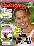 danish Sondag 16. Aug. 2004 #34 cover - hair up, pink top